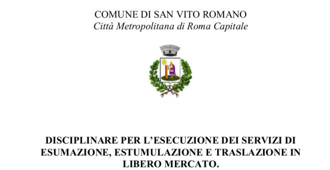 Servizi cimiteriali: disciplinare per l'esercizio in libero mercato, iscrizione ditte e modulistica